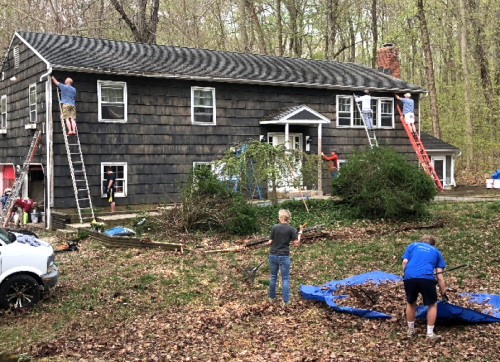 Helping a Wilton Neighbor in Need with HomeFront Repair Day