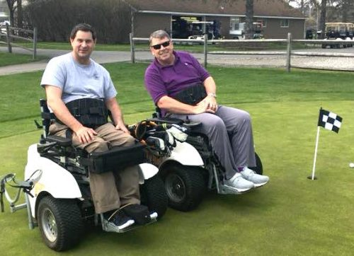 Making Strides and Helping Others, on Four Wheels