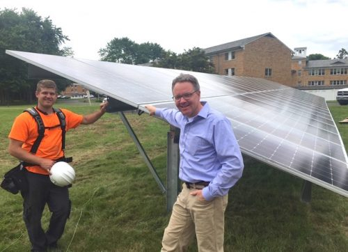 School Sisters of Notre Dame Go Solar with Wilton's 1st Solar Field